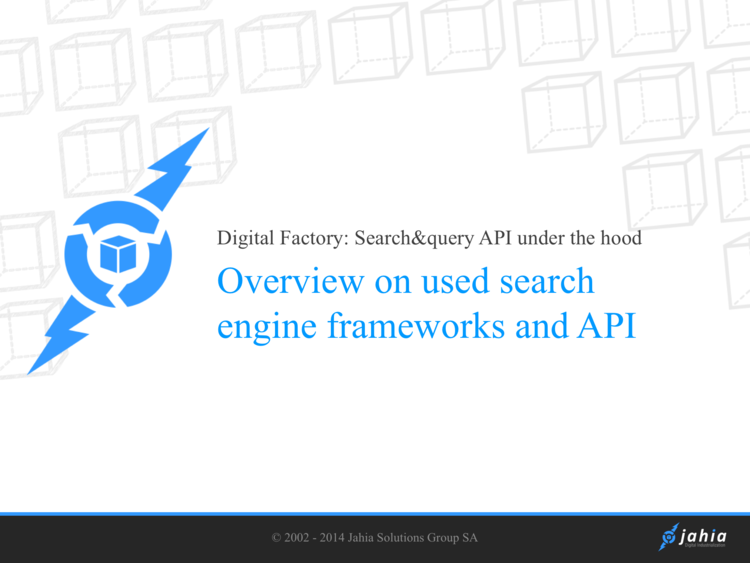 Query and search API under the hood| Digital Experience