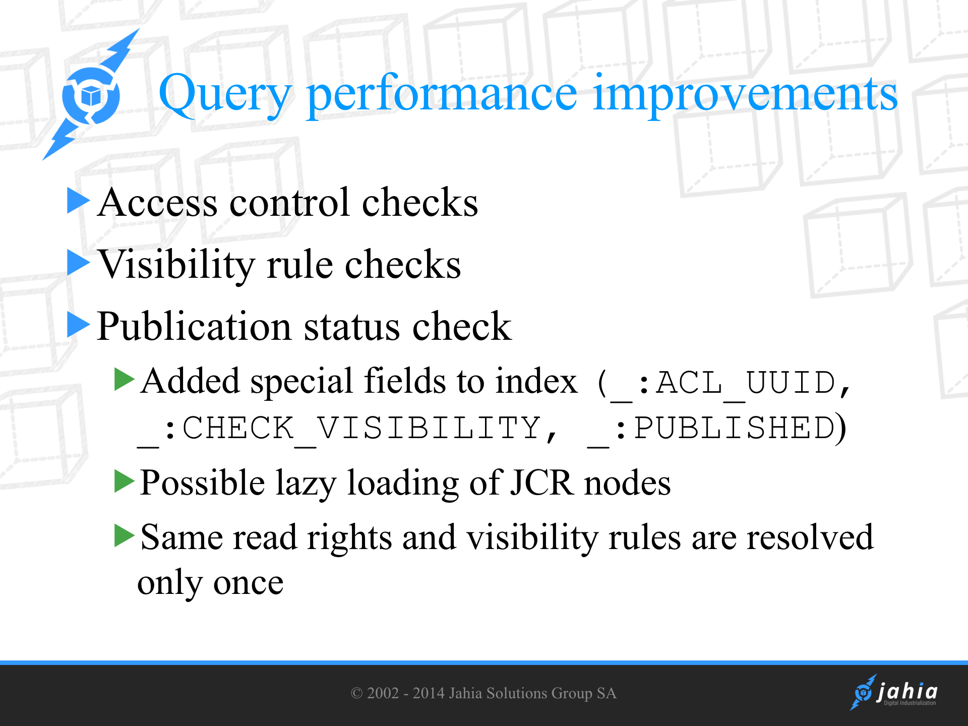 Query and search API under the hood | Digital Experience Manager 7 3