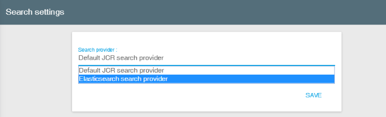 Installing and configuring the Elasticsearch search provider