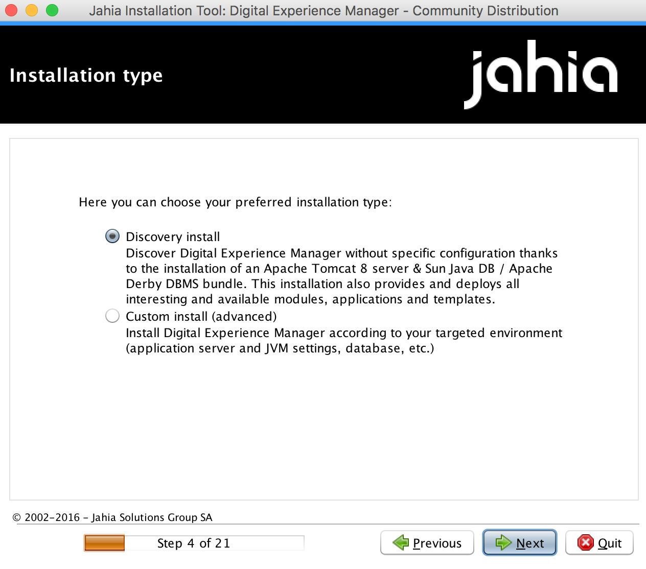installation instructions community and enterprise distributions rh academy jahia com