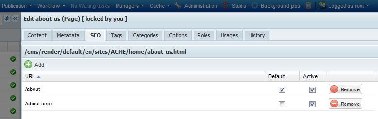 URLs management