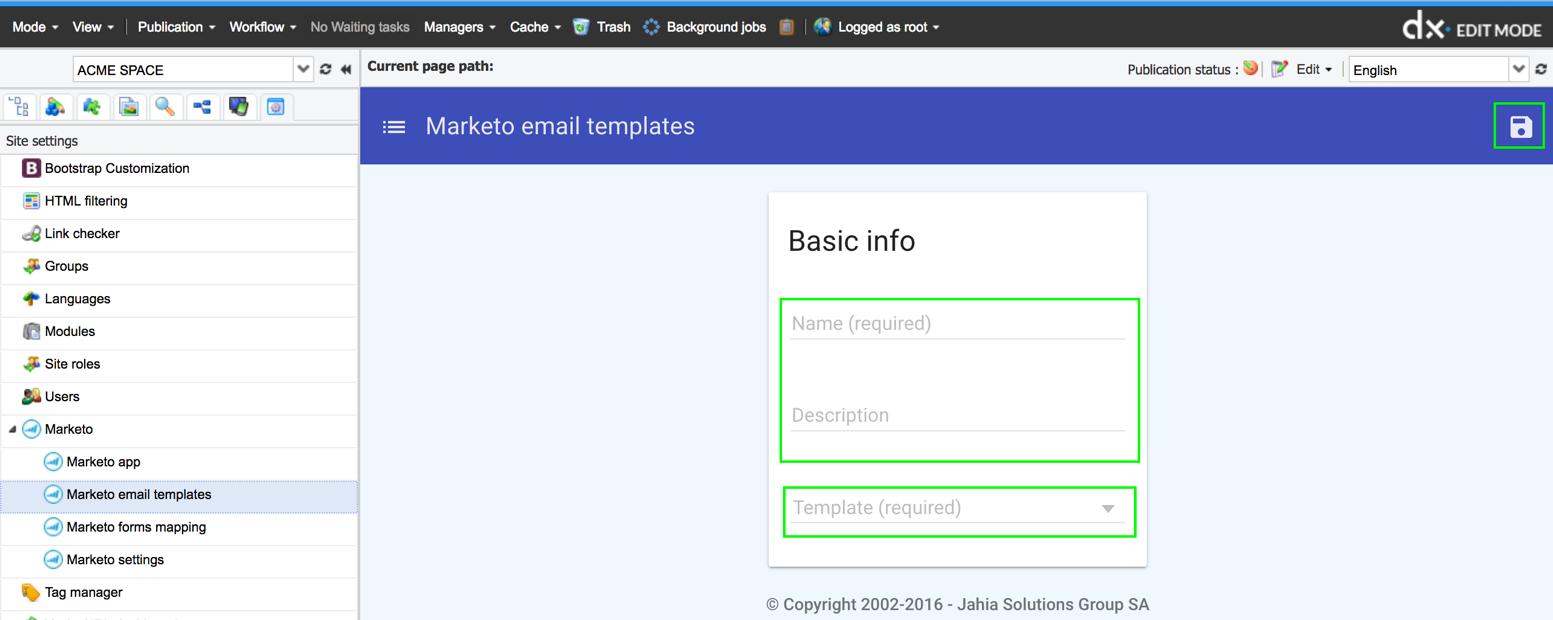 Marketo Connector Connectors Current - Marketo email templates